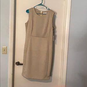 Calvin Klein beige dress
